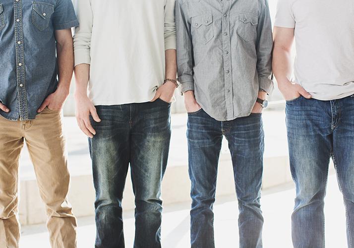 men standing in a line