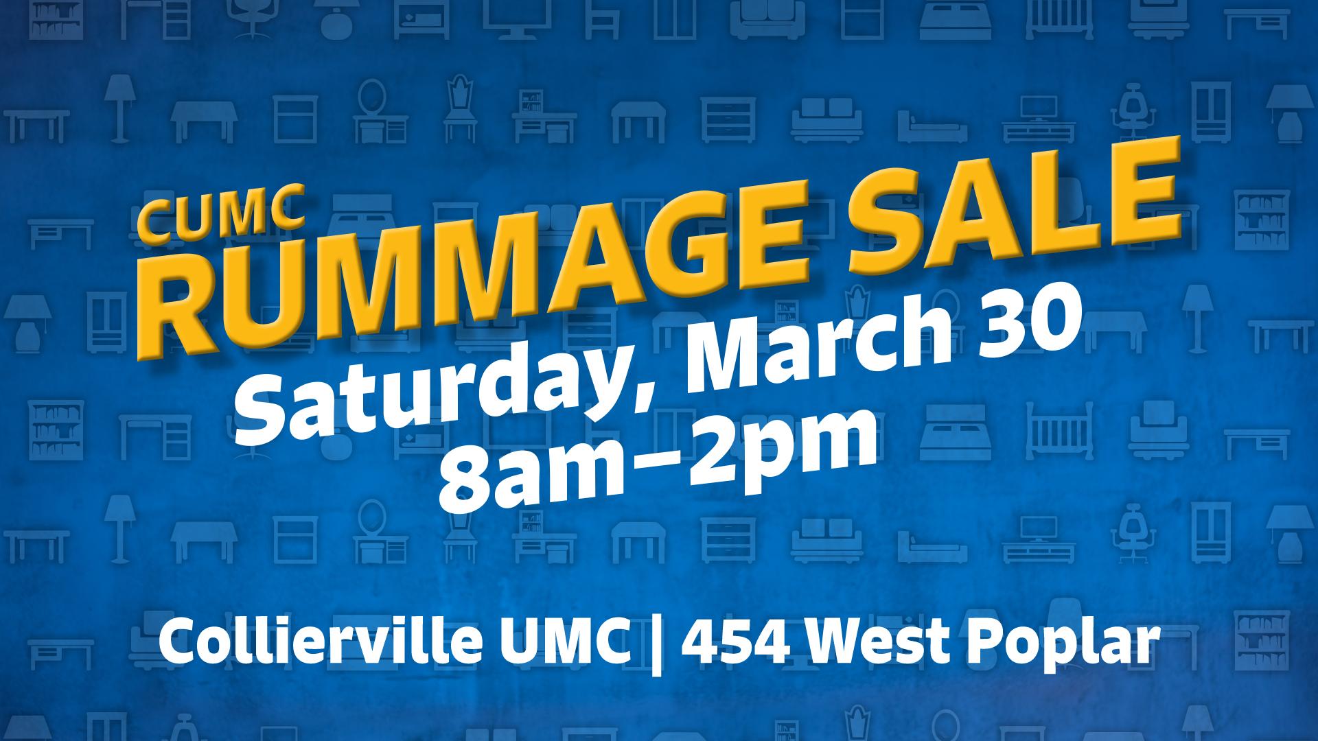 Rummage Sale – Collierville United Methodist Church